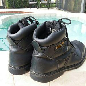 Brahma Steel Toe Work Boots Size 10
